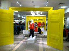 Clairborne merchandising @ JCPenny in Plano TX.  Great color, oversized door.