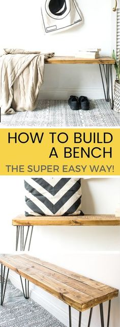 If you've suddenly decided your home (or garden) is in need of a bench, why not try making one yourself! In this tutorial, I'll show you how to build a bench - THE EASY WAY!