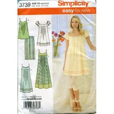 Amazon.com: Simplicity Sewing Pattern 3739 Size 12 to 20 Misses'/miss Petite Dress in Three Lengths or Tunic and Capri Pants: Arts, Crafts & Sewing