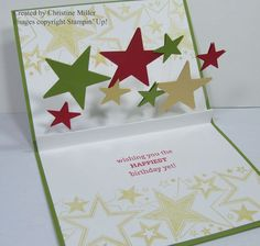 On Your Birthday, Classic Stars wheel, Stars Framelits or punches, Window Sheets - video on blog