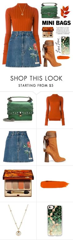 """Mini Bagd - Contest"" by yexyka ❤ liked on Polyvore featuring Fendi, Theory, Gucci, Chloé, Clarins, Franke, Hirotaka and Casetify"