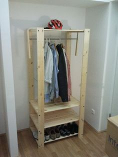 This would be perfect for a garage or mud room out of the way or for attic storage IKEA Hackers: The 40 Euro Wardrobe