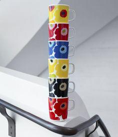 Unikko marimekko mug Marimekko, Scandinavia Design, Happy 50th, Nordic Home, Ceramic Cups, Porcelain Ceramics, Lassi, Finland, Decoration