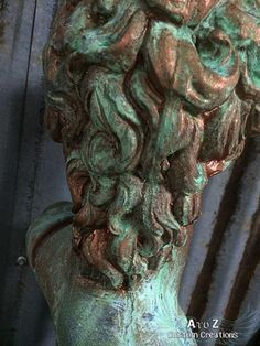 How to Create a Verdigris Patina Finish with Modern Masters Metal Effects | #DIY by A to Z Custom Creations
