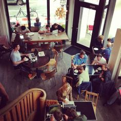 Open your laptop and drink a hipster coffee @ St Oberholz | #Berlin