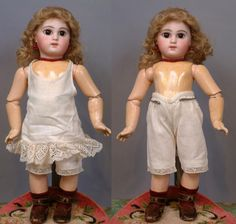 """13.5"""" Petite French 'Bebe Incassable' By Emile-Louis Jumeau Known As from kathylibratysantiques on Ruby Lane"""