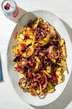 A vinegary potato salad with bacon is one of the great Germanish summertime traditions. Here, Sam Sifton has added a Mexican accent in the form of the canned, smoked jalapeño known as chipotle chile en adobo. (Photo: Grant Cornett for The New York Times)