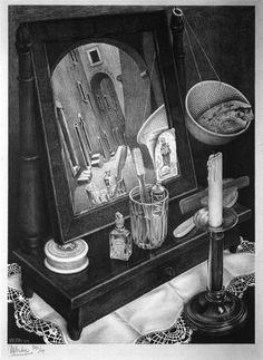 MC Esher - Still Life with Mirror - 1934