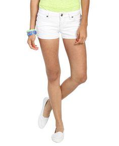 Lace Inset Destroyed Shorts  - Shorts
