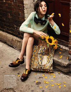 David Burton in Elle FR.  Intense colors, Autumn shades.