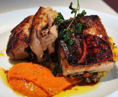 coolinaria.es :: Cool Dishes for Cool People - cochinillo confitado con cuscús y mojo de zanahorias de Arenero Taller de Tapas