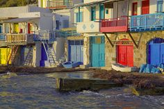 Colorful boat houses in Klima, Milos (Photo: Tom Pfeiffer)
