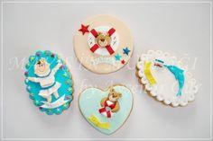 Kış aylarında böyle ''Deniz'' temalı kurabiyeler hazırlamak bana çok iyi geliyor...İnsanın içini ısıtıyor değil mi?Hele de bebekli şeyler yapmak daha da neşeli:))