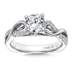 Caro 74 - Classic Elegance Collection Criss Cross Diamond Engagement Ring in 14K White Gold (0.23ct. tw.)# CR195W-4KH anillos de compromiso | alianzas de boda | anillos de compromiso baratos http://amzn.to/297uk4t