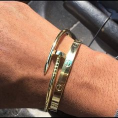 Shop Women's Gold size OS Accessories at a discounted price at Poshmark. Just sharing . Not selling. I may consider selling . Cartier Mens Bracelet, Cartier Armband, Mens Gold Bracelets, Cartier Jewelry, Bracelets For Men, Jewellery, Mens Designer Jewelry, Cartier Love Ring, Men's Jewelry Store