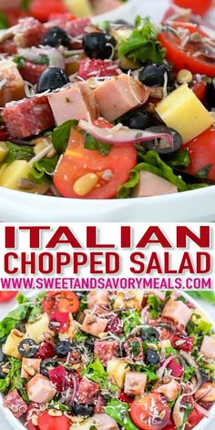 Salad recipes 34128909664046352 - Italian Chopped Salad is a merry mix of textures and flavors of fresh vegetables, cold cuts, and cheese that is perfect as an appetizer or a light meal for anyone to enjoy. Italian Chopped Salad, Chopped Salad Recipes, Pasta Salad Recipes, Healthy Salad Recipes, Club Salad Recipe, Fresh Vegetable Salad Recipes, Dinner Salad Recipes, Cold Vegetable Salads, Diabetic Salads