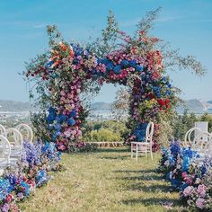 18 Natural Wedding Decor Ideas ❤️ natural wedding décor outdoor ceremony arch with bright volume flowers allforlovelondon Marie's Wedding, Floral Wedding, Wedding Ceremony, Wedding Venues, Outdoor Ceremony, Wedding Blog, Miami Wedding, Bouquet Wedding, Wedding Things