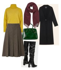 """""""Winter colors"""" by mazyrenok on Polyvore featuring мода, Prada, Witchery, River Island и L.K.Bennett"""