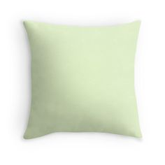 Soft Pale Celery Green Pastel Throw Pillows