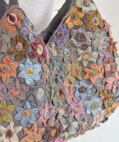 Sophie Digard crochet LOTUS WOOL BAG / GREY: