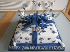 70th Birthday Cake Designs For