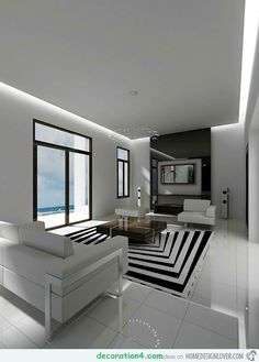 60 Best Living Spaces Black White Images Living Room Designs - Creative-side-system-for-fans-of-a-fashionable-black-and-white-color-theme-by-fimar