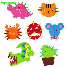 4pcs/lot Non-woven Felt Fabric Cartoon Animal Clip Art Preschool Kindergarten Teaching Materials Educational Toys