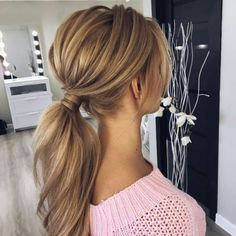 Gorgeous Ponytail Hairstyle Ideas That Leave You in FAB Pferdeschwanz Virtual Hairstyles, Prom Hairstyles For Long Hair, Easy Hairstyles, Straight Hairstyles, Wedding Hairstyles, Hairstyle Ideas, Perfect Hairstyle, Wedding Ponytail Hairstyles, Low Pony Hairstyles