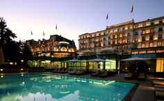 Occupying prime real estate along Lake Geneva in Lausanne, Switzerland, the Beau-Rivage Palace offer. - (Courtesy of Beau-Rivage Palace) Lausanne, Parc Hotel, Hotel Spa, Vevey, Hotels And Resorts, Best Hotels, Beach Resorts, Hotel Beau Rivage, Hotels In Bangkok