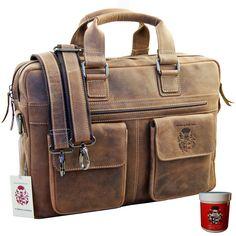 Lassen Sie sich hier von den vielen Vorzügen dieser edlen Laptoptasche für Herren überraschen!Laptoptasche PLUTARCH: Ein wahrer Hingucker aus feinstem Eco LederSie benötigen für Ihren Laptop oder Ihre Ordner eine praktische Tasche?...