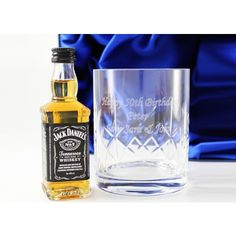 Engraved Crystal Tumbler Glass and Jack Daniels Gift Set  from www.personalisedweddinggifts.co.uk :: ONLY £29.95