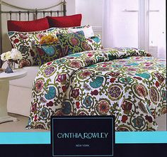 we have this!!  cynthia rowley bedding set.  love the colors!!