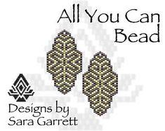 Peyote Earrings Pattern 108 Bead Weaving INSTANT DOWNLOAD PDF Odd Count
