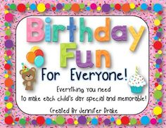 Birthday Fun For Everyone!  *EDITABLE* Super Pack Of Birth