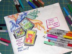 Speck - doodled mail art
