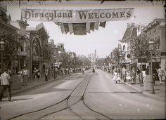 Disneyland Main Street, 1956