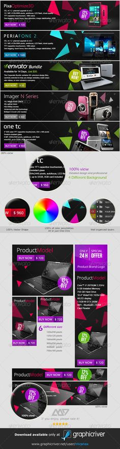 Web Marketing Banners & Ad Template PSD | Buy and Download: http://graphicriver.net/item/web-marketing-banners-ad-templates-vol2/4533446?WT.ac=category_thumb&WT.z_author=MiraNAX&ref=ksioks
