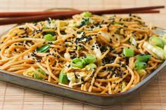 Gluten Free Sesame Noodles with Spicy Peanut Sauce - going to make it gluten free by using gf noodles and gf soy sauce #glutenfree