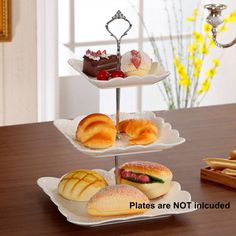 Cupcake Stand Stainless steel Round Wedding Birthday Cake Display Tower 3 Tier…