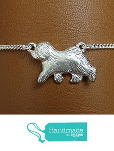 Small Sterling Silver Old English Sheepdog Moving Study Anklet Sterling Silver Anklet, Silver Anklets, Old English Sheepdog, Belly Button Rings, Personalized Items, Stuff To Buy, Jewelry, Jewlery, Bijoux