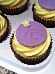 Monogrammed Cupcakes