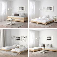 Here's some space-saving hacks for homes with limited room - Zimmereinrichtung Cama Murphy, Murphy Bed Ikea, Murphy Bed Plans, Small Apartments, Small Spaces, Cama Ikea, Guest Room Office, Guest Rooms, Diy Sofa
