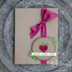 Holly's Hobbies: Here for You - GDP097 Pinewood Planks embossing folder is a perfect match for the Always & Forever set from @stampinup