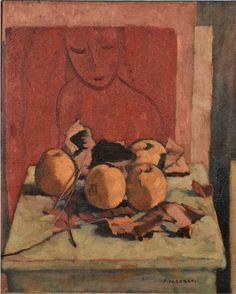 'still life, fish and dried leaves' by felice casorati Italian Painters, Italian Artist, Young Art, Still Life Drawing, Pattern Illustration, Illustrations, Painting Patterns, Traditional Art, Sculpture