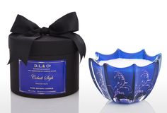 Venetian Vine Cobalt 10oz Scallop Candle on One Kings Lane today
