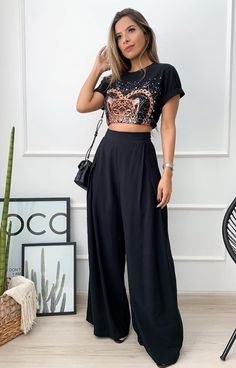 Look Casual Chic, Casual Street Style, Casual Looks, Stylish Outfits, Cool Outfits, Look Fashion, Womens Fashion, Looks Black, Festival Looks