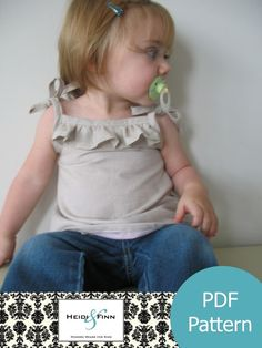 Cute Little Ruffle Shirt tutorial and pattern PDF child 6M-3T EASY Sew. $6.00, via Etsy.