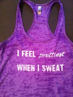 Purple Burnout Fitness Tank Top I Feel by BodyLoveApparel on Etsy, $26.00