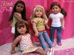 Super cute doll outfits made from LJ Patterns - by ABeeLine on ETSY
