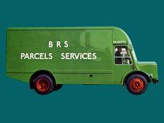 BRS Parcels Services van via Classic Trucks, Classic Cars, Old Lorries, Parcel Service, Road Transport, Commercial Vehicle, Old Trucks, Transportation, British